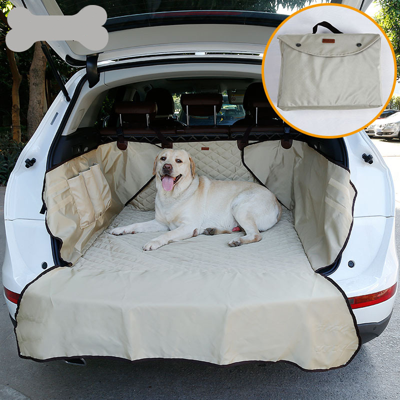 JORMEL Dual-use Soft SUV Car Trunk Mat Pet Dog Car Seat Cover Pet Barrier Protect Car Floor From Spills And Pet Nail Scratches