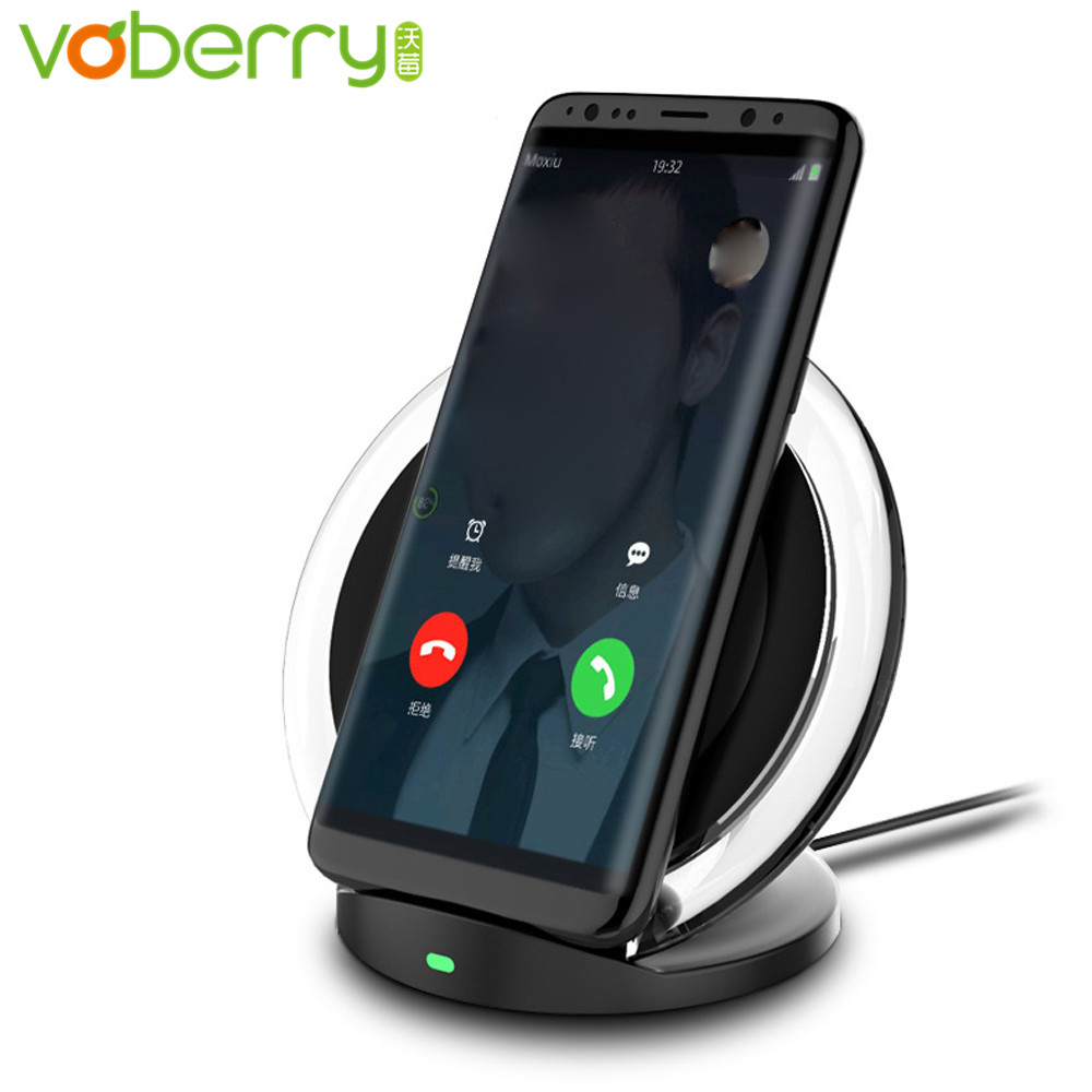 voberry qi wireless charger for samsung galaxy s8 s8. Black Bedroom Furniture Sets. Home Design Ideas