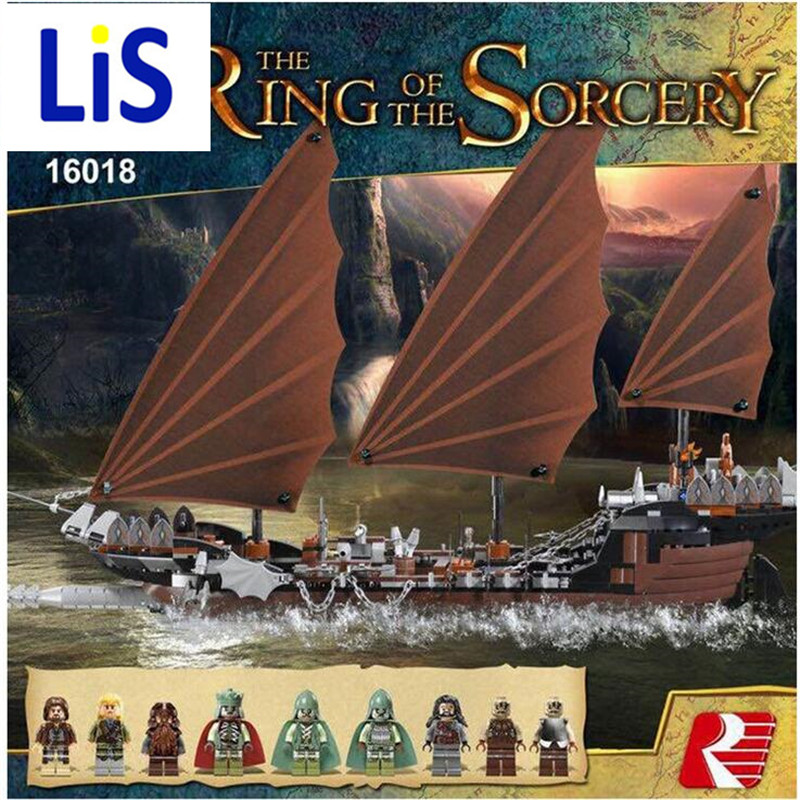 Lis New Lepin 16018 Genuine The lord of rings Series The Ghost Pirate Ship Set Building Block Brick Toys 79008 lepin 16018 756pcs genuine the lord of rings series the ghost pirate ship set building block brick toys compatible legoed 79008