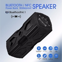 HESTIA Portable Bluetooth Speaker Waterproof HiFi Subwoofer Wireless Loudspeaker 3600mA 2X5W NFC DC Out Power Bank