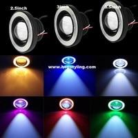 Free Shipping 2x 3 5inch FOG Angel Eyes Angel Eye COB Halo Ring LED DRL Projector