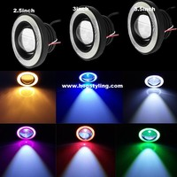3.5inch FOG Angel eyes Angel Eye COB Halo Ring LED DRL Projector Lens Fog Driving Light For Mazda auto accessory