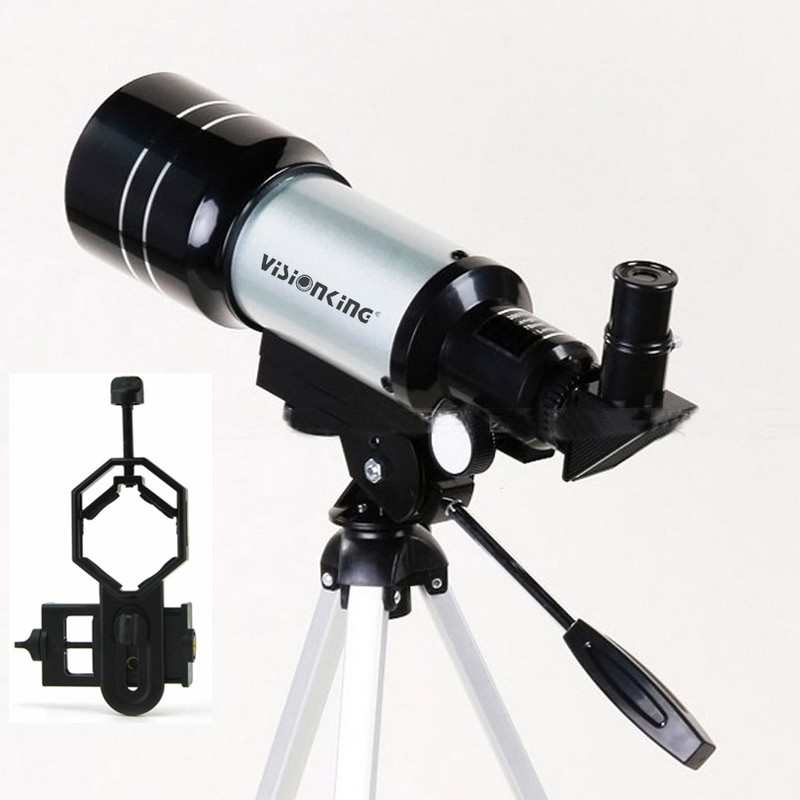 Visionking 70300 300 70mm Refraction Astronomical Telescope Monocular Space Sky Observation Astronomy Scope With Phone Adapter