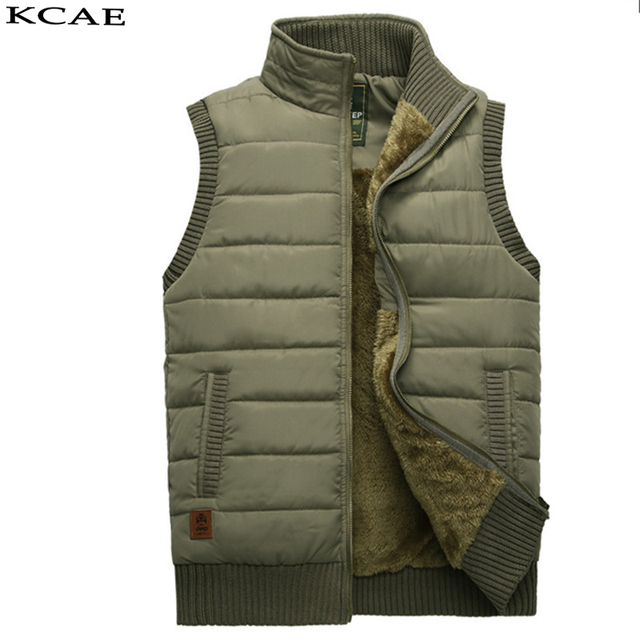 2016 Winter Keep warm Men's leisure photography Casual Cotton Vest,cotton Thickness Waistcoat, Man Coat