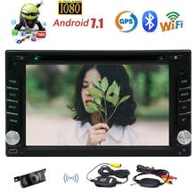 Wireless Camera Included !Android Car Stereo 2 Din DVD Player Support GPS Sat Navi Bluetooth Autoradio WIFI/3G 4G SWC Phone Link