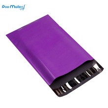 100pcs 9x12 inch 23x30.5cm Purple Poly Mailers Shipping Bags Boutique Couture Envelopes