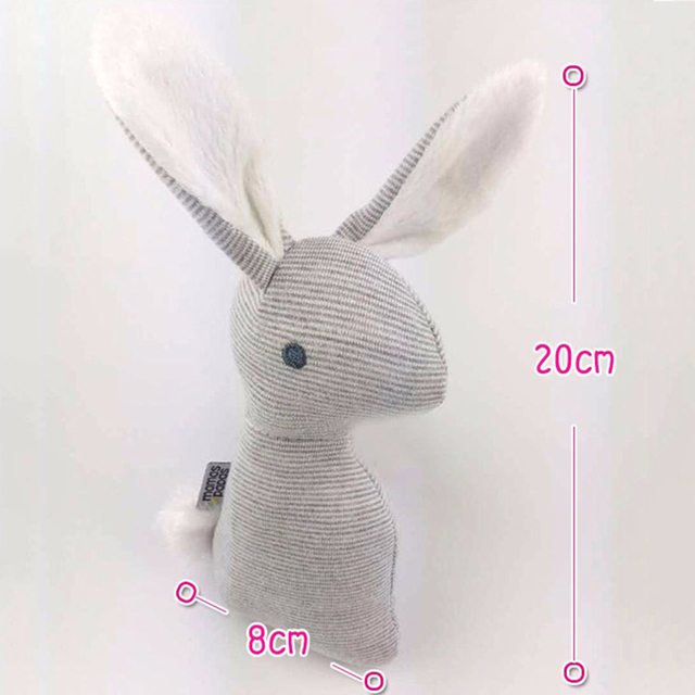 0-12 months BB Rabbit Baby Toys Plush Bunny Rattle mobiles Infant Ring Bell Crib Bed Hanging Animal Bebe Toy Kids Doll 4