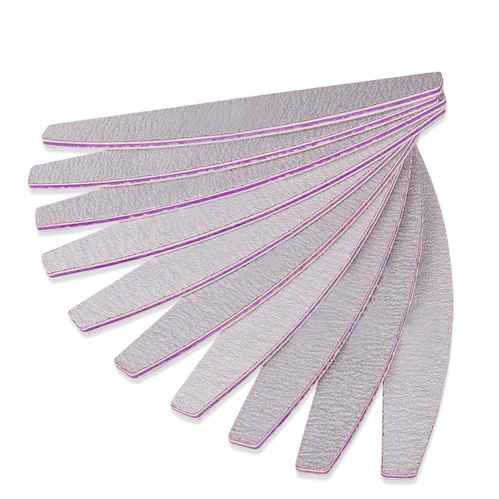5pcs Crescent shaped Nail File for Nail Care Nail Art Beautiful Nails Cosmetic Cleaner Tool in Nail Files Buffers from Beauty Health