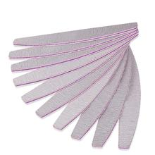 5pcs Crescent-shaped Nail File for Care Art & Beautiful Nails Cosmetic Cleaner Tool