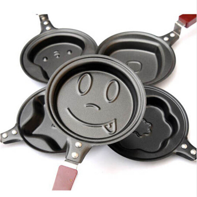 2017 Hot Sale 5 Types Lovely Egg Frying Pancakes Kitchen Pan with Stick Housewares DIY Mini Pot for kitchen