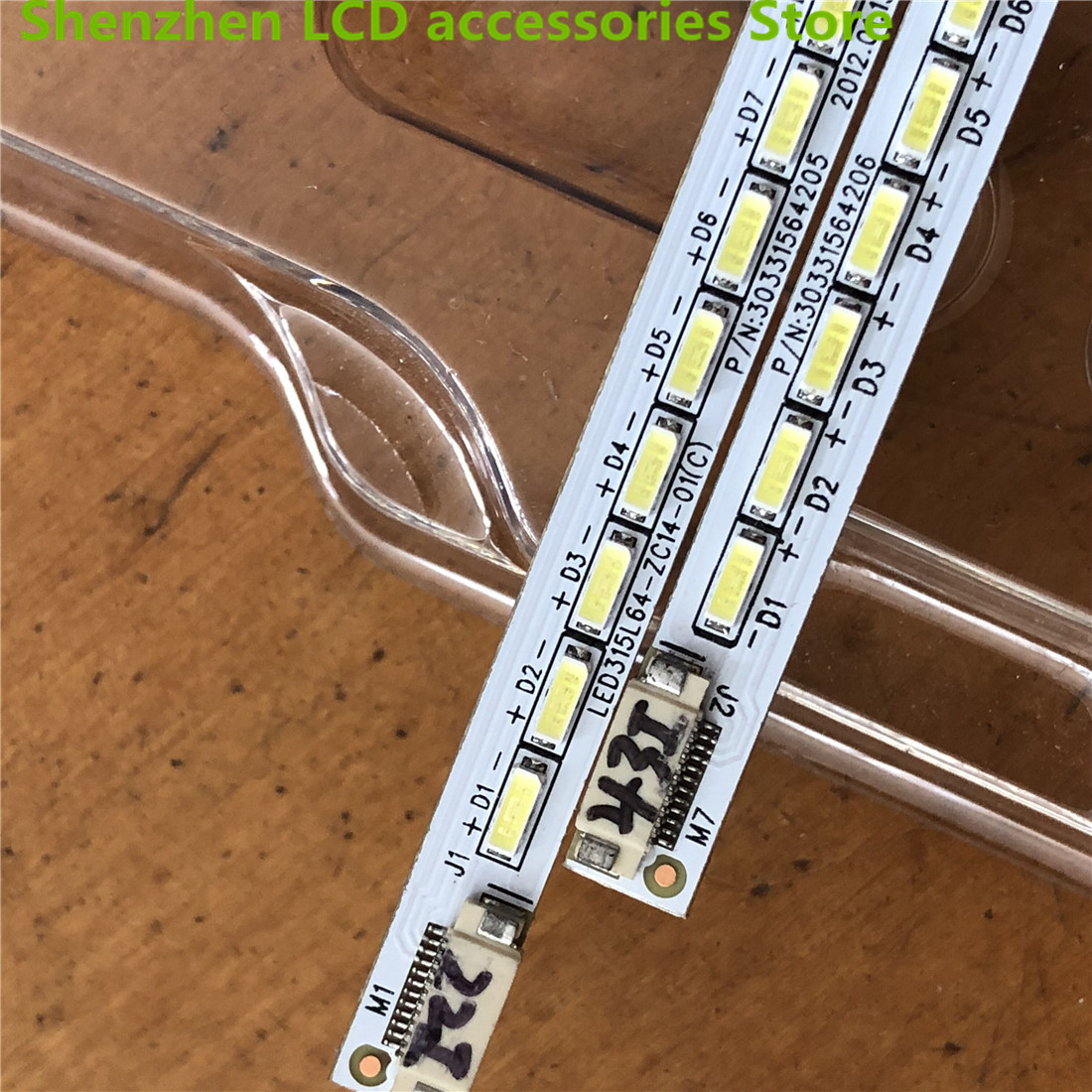 2Pieces/lot    LE32MUK1 Lamp Strip LED315L64-ZC14-01 (C) LED315R64-ZC14-01  1PCS=64LED   1PCS=360MM