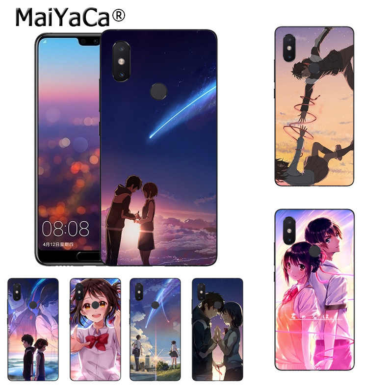 Maiyaca Anime Your Name Kimi No Na Wa Novelty Fundas Phone Case Cover For Xiaomi Mi 8se 6 Note2 Note3 Redmi 5 Plus Note4 5 Cover