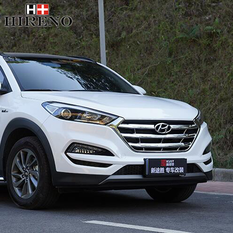 Stainless Steel Car Racing Grills For Hyundai Tucson 2009-2016 Front Grill Grille Cover Trim Car styling racing grills version aluminum alloy car styling refit grille air intake grid radiator grill for kla k5 2012 14