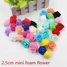 30pcs Mini PE Foam Rose Artificial Flowers For font b Wedding b font Car font b