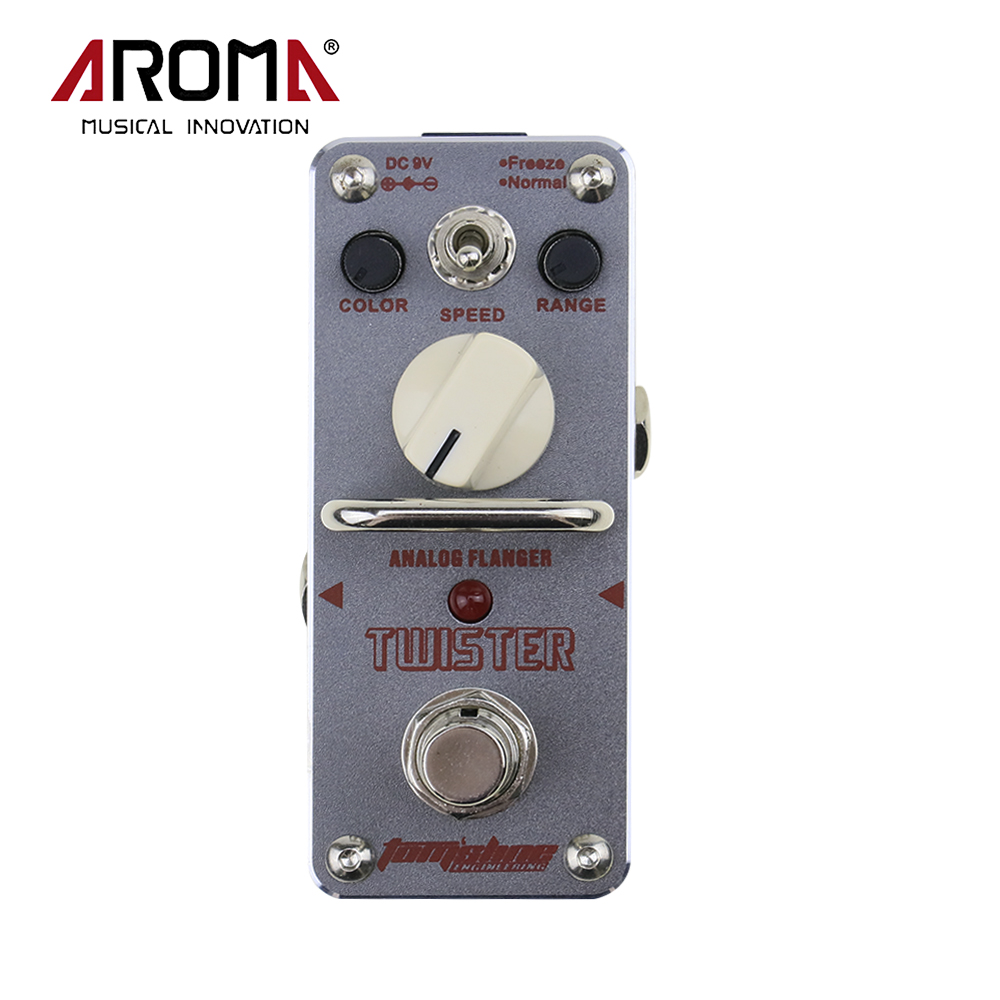 AROMA ATR-3 Twister Analog Mini Single Effect Flanger Electric Guitar Effect Pedal True Bypass aroma adr 3 dumbler amp simulator guitar effect pedal mini single pedals with true bypass aluminium alloy guitar accessories