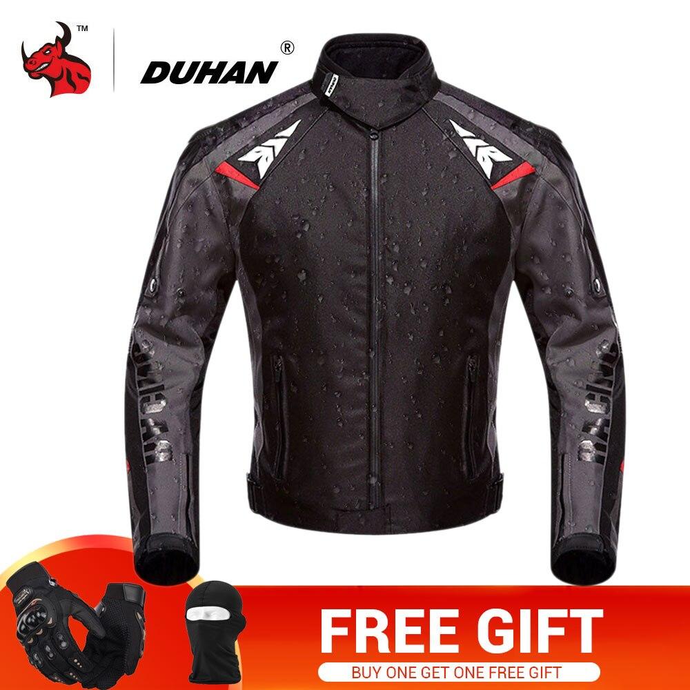 DUHAN Moto Veste Hommes Étanche Moto Veste Équipement De Protection Oxford Motocross Off-Road Racing Veste Avec 5 Protecteurs