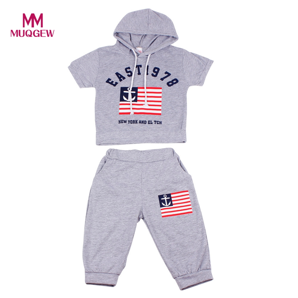 2017 New Hot Summer Letters Printing Children Clothing Sets Boys Hooded T-shirt And Pants Suits 2PCS Cotton Outfits Kids Clothes hobbywing platinum pro 50a v3 60a v4 brushless esc electronic speed controller for rc drone heli fpv multi rotor f17552 3
