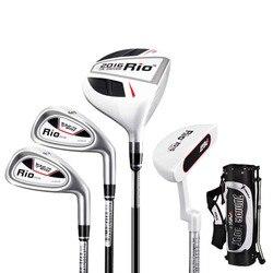 CRESTGOLF نوادي الغولف يحدد 4 نوادي مع حقيبة غولف للأطفال ممارسة الغولف مجموعة مع 3 ألوان للاختيار