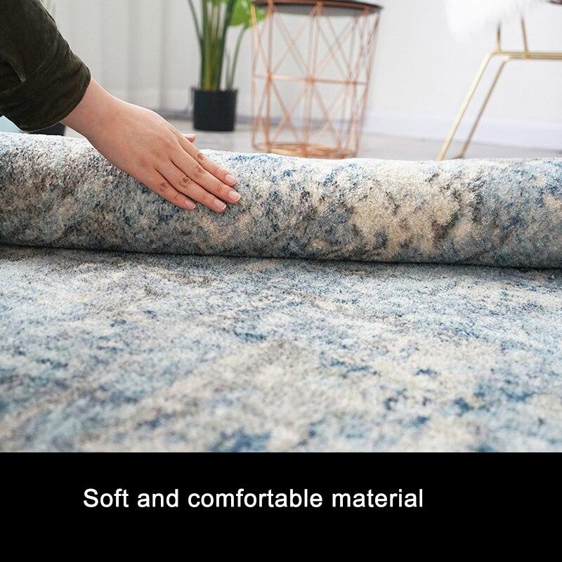 Tapis en coton doux et tapis pour la maison salon Style nordique moderne chevet chambre tapis tapis enfants chambre couloir étage Runner - 4