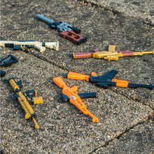 LOZ SC New Creative Diamond Building Block Assembled Military Gun Building Blocks Brick Toys for Children Gift