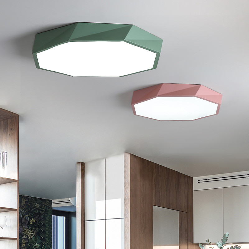 Colorful Book Room: Living Room Lamp LED Simple Hexagon Ceiling Lamp