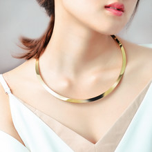 Fashion Cute Women Ladies Female Silver Gold Color Simple Thin 316l Stainless Steel Torque Neck Choker Necklace Jewelry for Sale(China)