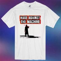 Nueva rabia contra la máquina rap hip hop metal hombres camiseta blanca tamaño S-3XL hombres camiseta hombres ropa más La camiseta superior del tamaño