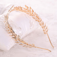 Leaf Alloy Crown Hairband Bride Baroque Crown Child Crown Dinner Party Princess Crown Bridal Jewelry crown xlс2800