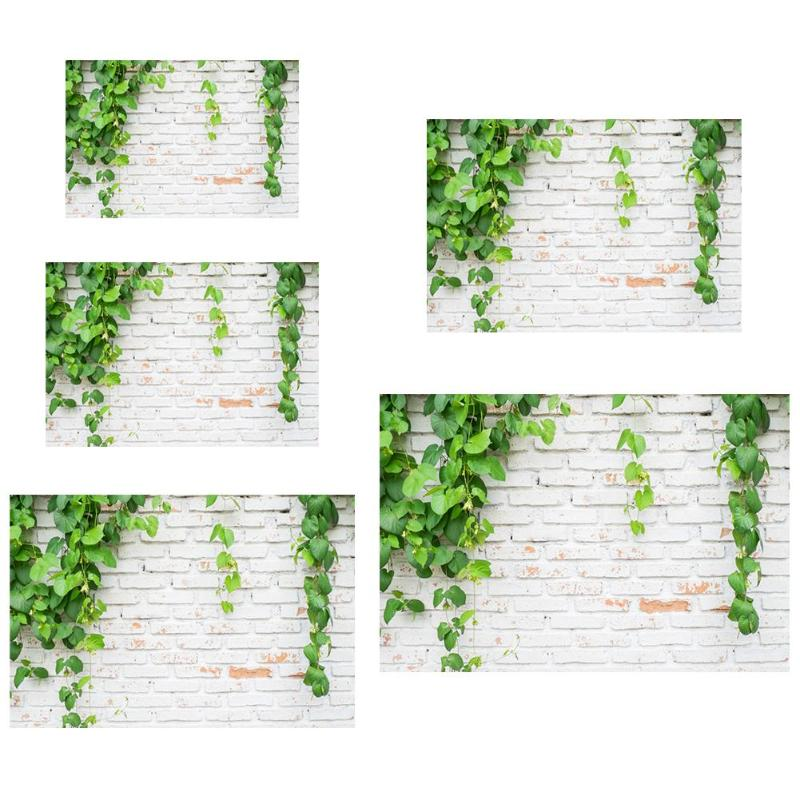 Green Plant Brick Texture Photography Background Cloth Backdrop Photo Decor For Photo Studio-in Background from Consumer Electronics