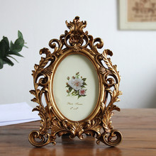 Golden European-style retro 6 inch 7 inch 8 inch metal texture carved picture resin frame handicraft home decoration decoration european style black and white checkered resin embossed love bird 6 inch 7 inch 8 inch 10 inch frame handicraft home decoration