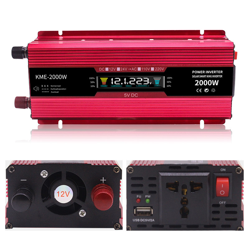 <font><b>Inverter</b></font> 12v <font><b>24V</b></font> <font><b>220v</b></font> <font><b>2000W</b></font> Voltage Transformer Car Converter 12 To 220 Solar Inversor Auto Power <font><b>Inverter</b></font> Charger Adapter image