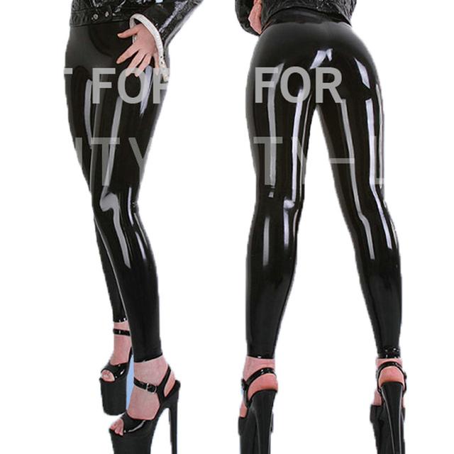 Calças de látex Para As Mulheres Fetiche Capris Legging Calças Plus Size Personalizável 100% Naturais Artesanais
