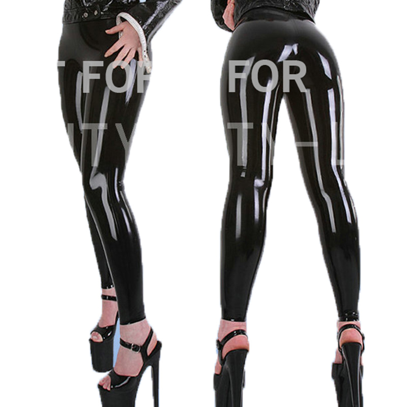 Latex Trousers For Women Fetish Capris Legging Pants Plus Size Customizable 100% Natural Handmade