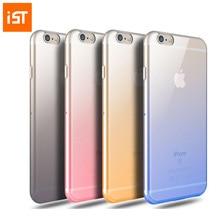 6/6 s Plus IST Original Simples Limpar Gradiente Caso Capa de Silicone Para iphone 6 6 s 7 7 s mais fino telefone de volta casos pele