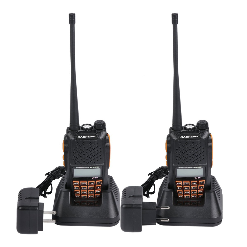 Baofeng UV 6R walkie talkie Professional CB radio Dual Frequency 128CH LCD display Wireless baofeng UV6R portable radio 136 174