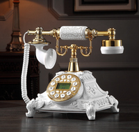 Retro Phone Home Landlines Phone With Rotary Button Dial Metal Resin Material Antiques Telephone For Home House Office