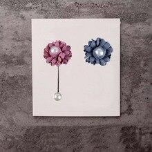 Цветок нагрудные булавки броши класса ткань цветок и имитация жемчуга брошь на воротник на воротнике