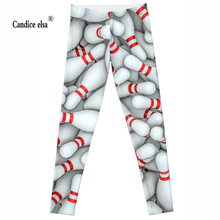 CANDICE ELSA women leggings workout legging fitness female pants elastic sexy printed trousers plus size wholesale