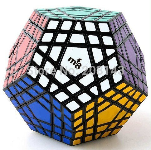ФОТО MF8 Gigaminx Plastic Magic Cube Puzzle Black Color Hot Selling Brain Teaser Twisty Puzzel Toy cubo magico