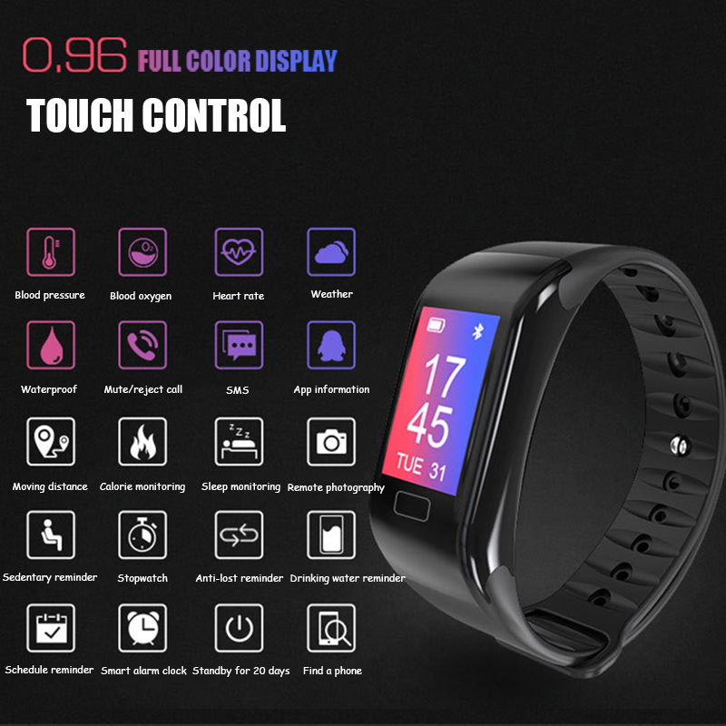 New Smart Watch Heart Rate Monitor Wristband Blood Pressure Sleep Fitness Tracker Smartwatch Men Sport Watch for ios android-in Smart Wristbands from Consumer Electronics