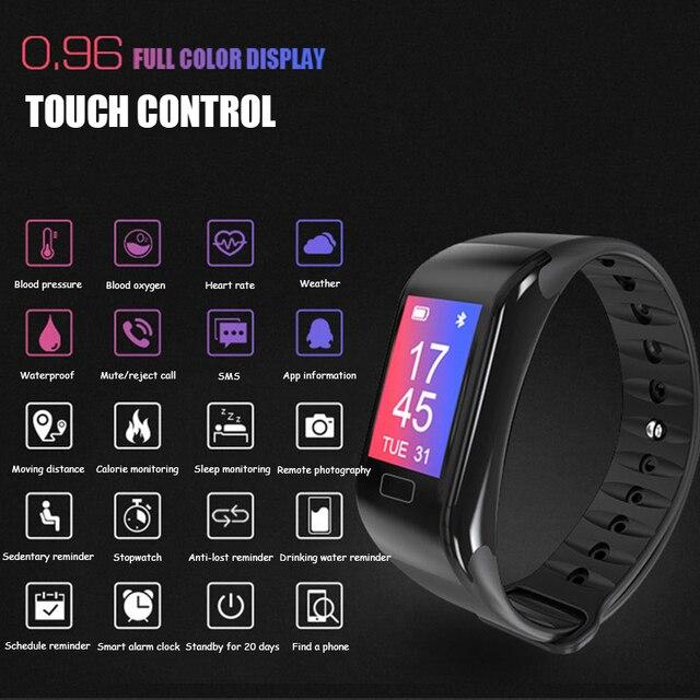 Nouvelle montre intelligente moniteur de fréquence cardiaque bracelet pression artérielle sommeil Fitness Tracker Smartwatch hommes Sport montre pour ios android