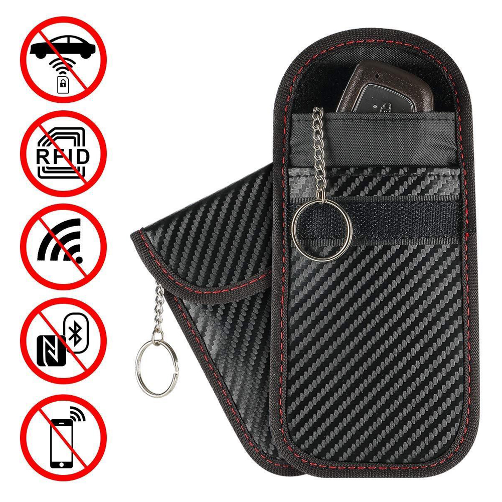 2019 Newest Hot 1pc Anti-theft Car Key Fob RFID Signal Blocker Faraday Signal Blocking Pouch Bag Key Wallets