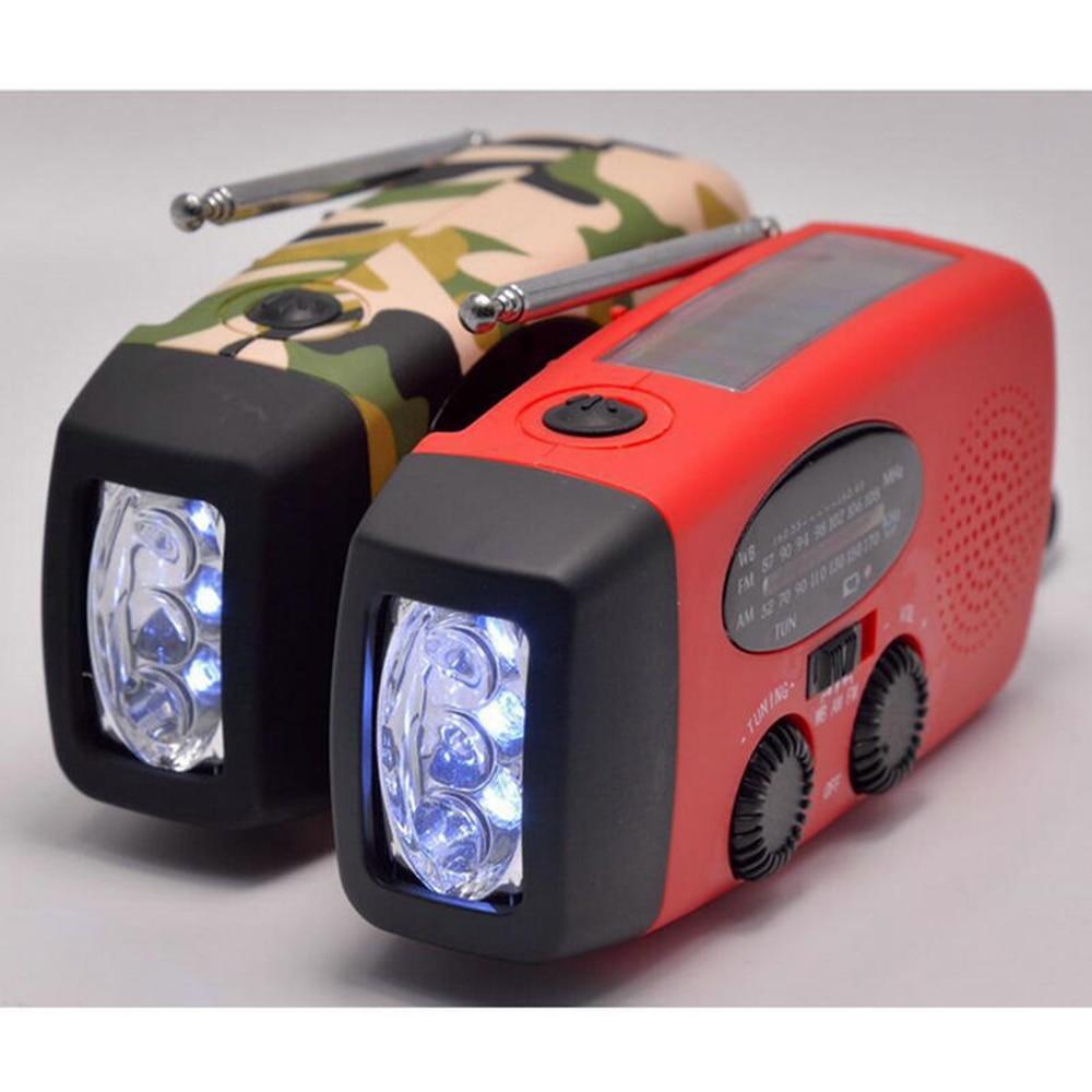 Sporting 300 Mah Solar Kurbel Notfall Radio Mit 3 Led Taschenlampe Tf Mp3 Player Telefon Ladegerät/hand/solar Powered Am/fm/noaa Wetter Radio Unterhaltungselektronik