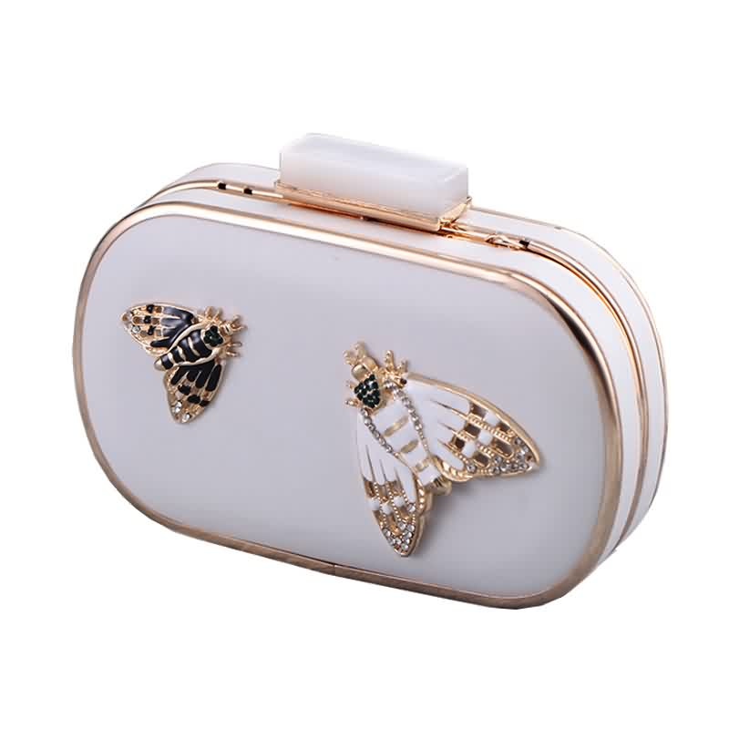 Diamond Pearls Beaded Insect Clutch Bag 2