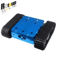 Smart metal Robot rc tank tracked vehicle chassis car mobile platform with motor for Arduino DIY kit #rb1610006