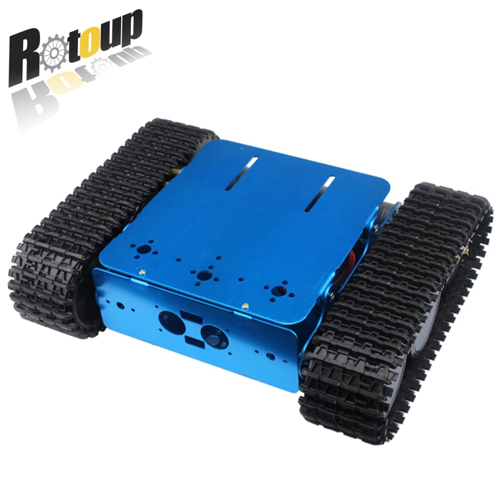 Rotoup Smart Robot chassis track tank kits Avoidance motor car wheels for Arduino robot platform chasis Aluminum #rb1610006 cheap d2 1 smart robot car kits tracking car photosensitive robot kits parts for diy electric toy no battery