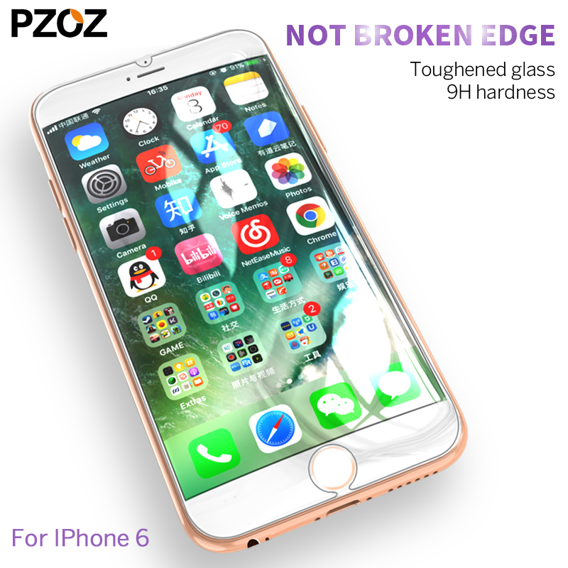 PZOZ tempered glass full cover screen protector for iphone 6 s 6plus <font><b>iphone6</b></font> s <font><b>film</b></font> 9h color 3D Anti Blue Light glass image