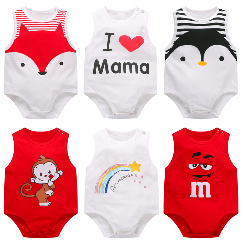 Baby Rompers Summer Sleeveless Newborn Baby Clothes Cotton Fashion Baby Clothes Kids Baby Clothes For Boys And Girls