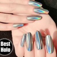 1g Box Holographic Powder Top Quality Rainbow Pigment Unicorn Powder Hologram Mica Nail Glitter Decorations