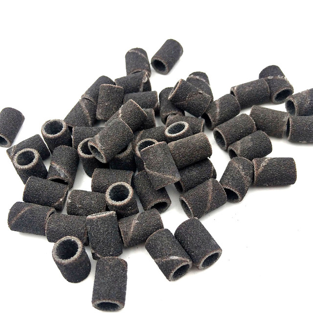 HYTOOS 100Pcs/set 3 Colors Nail Art Sanding Bands Pedicure Tools Electric Nail Drill Accessories Foot Care Tools 80# 150# 240# 2